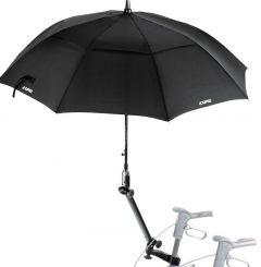 TOPRO Schirm, schwarz mit Multifunktionsarm