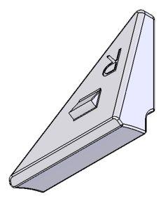 Befestigungsplatte für Rollwiderstand-System (RWS), rechts