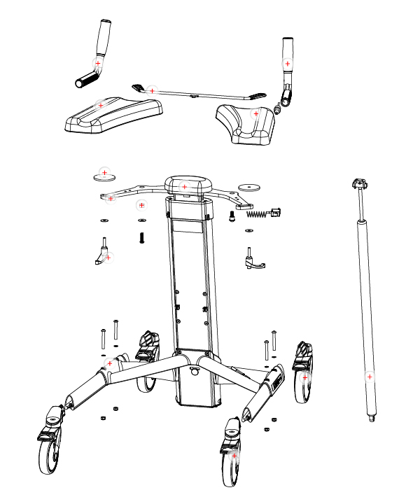 Exploded view with spare parts TOPRO Troja Classic